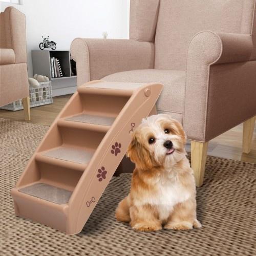 Escalera de acceso al sofá para perros color Beige