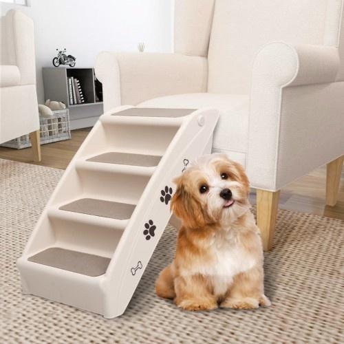Escalera de acceso al sofá para perros color Blanco