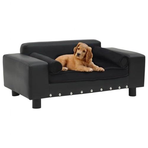 Sofá con cojín extraíble para perros color Negro