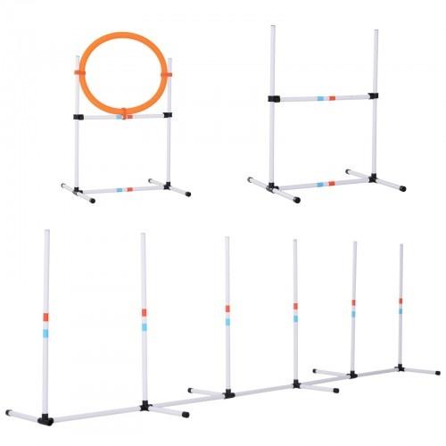 Set de entrenamiento para perros color Blanco/Naranja