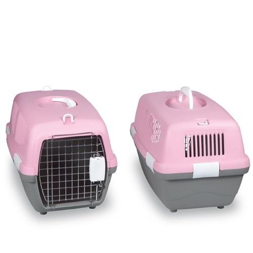 Transportín para mascotas color Rosa y Gris