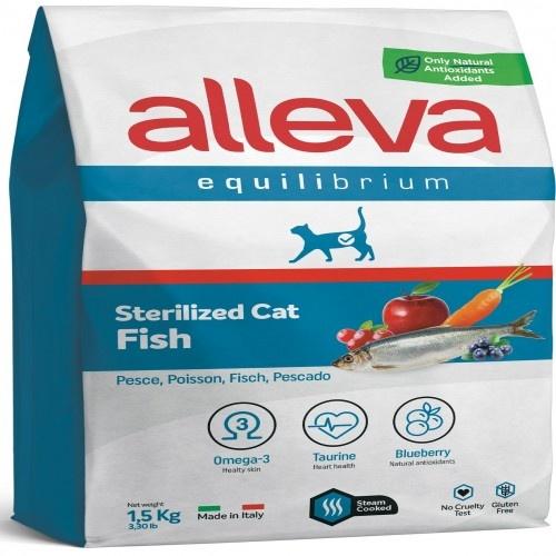 Pienso Alleva Equilibrium para gatos esterilizados sabor Arenque