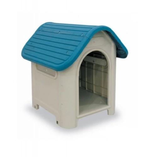 Caseta Gaun Doggy House color Blanco y Azul