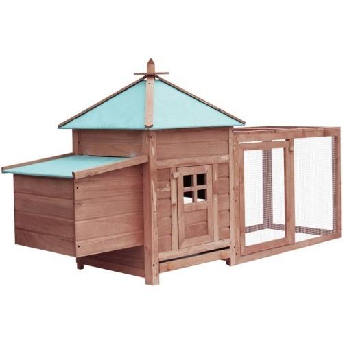 Gallinero espacioso de madera color Gris