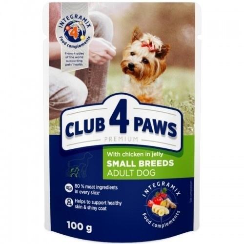 Club 4 Paws Pienso húmedo para perros de razas pequeñas Pollo en gelatina
