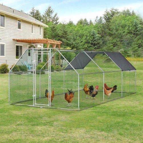 Gallinero de metal para gallinas color Metal