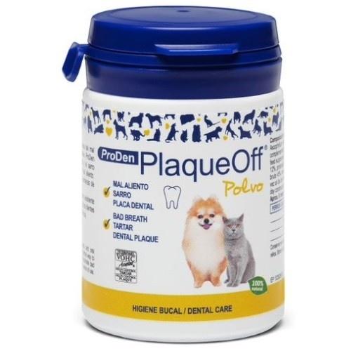 PlaqueOff Polvos antisarro para higiene bucal de las mascotas 60 g