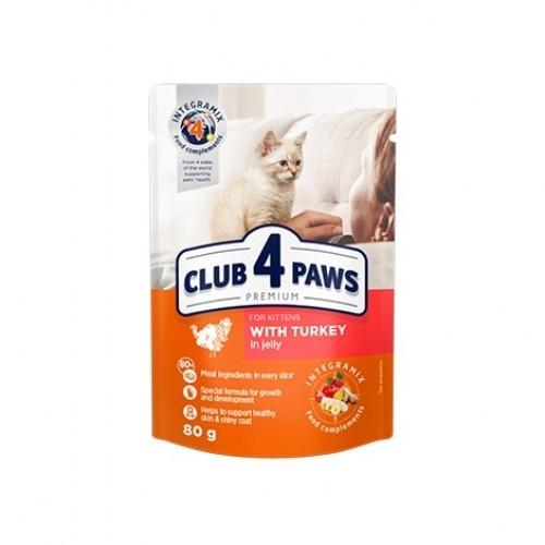 Club 4 Paws Pienso húmedo para gatitos Pavo en gelatina