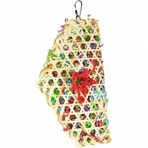 Juguete de rejilla Taco Waco para loros color Varios