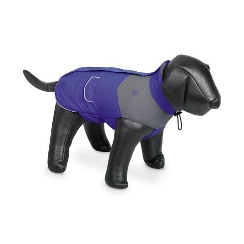 Abrigo Remus con bandas reflectantes para perros color Azul