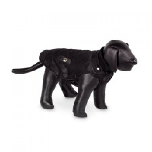 Abrigo con forro polar Nina para perros color Negro