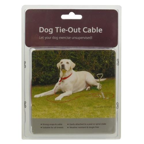 Cuerda correa de sujeción para perros color Rojo