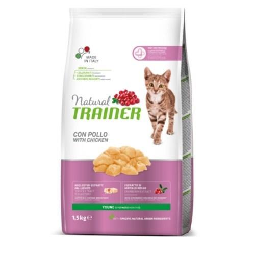 Natural Trainer Young Pollo para gatos jóvenes