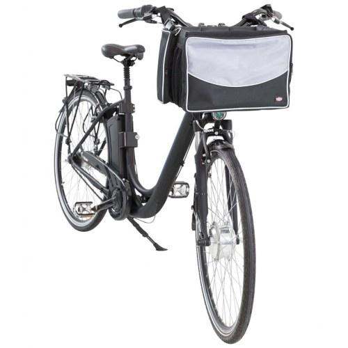 Cesta de bicicleta para mascotas color Negro y Gris