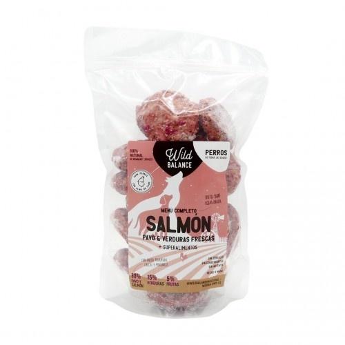 Pack de menú completo BARF para perros sabor Pavo y salmón