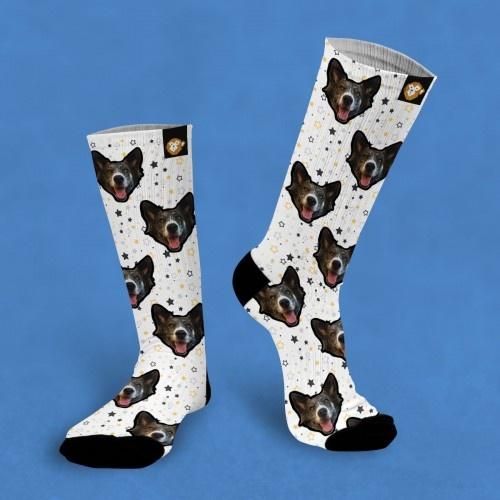 Calcetines personalizados Star 3 mascotas color Blanco