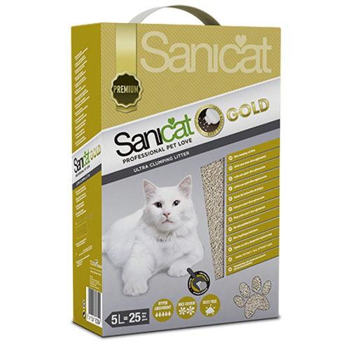 Sanicat Clumping Gold arena aglomerante para gatos 5 l