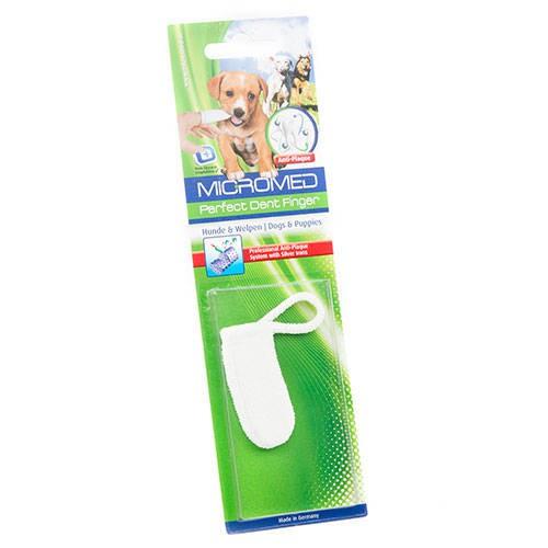 Dedil antibacteriano para higiene dental de perros