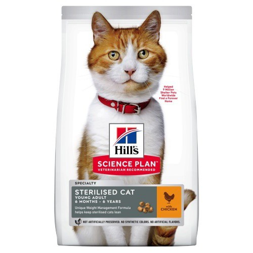 Hill's Feline Young Adult Sterilised Cat Pollo