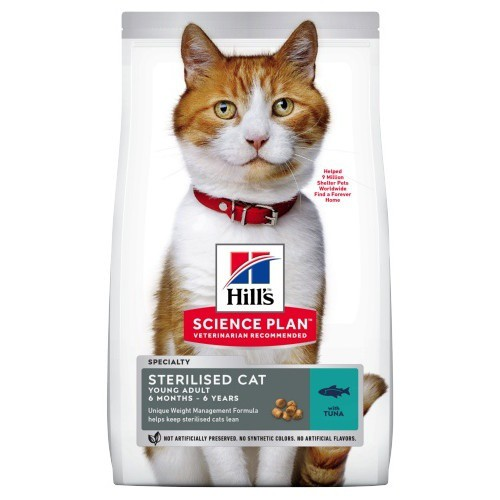 Hill's Feline Young Adult Sterilised Cat Atún
