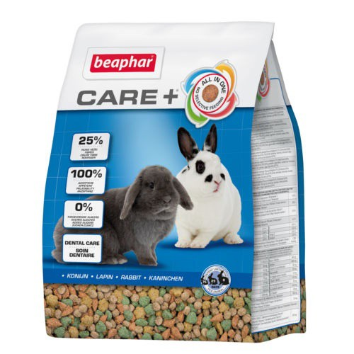 Care + Super premium complete feed for adult rabbits
