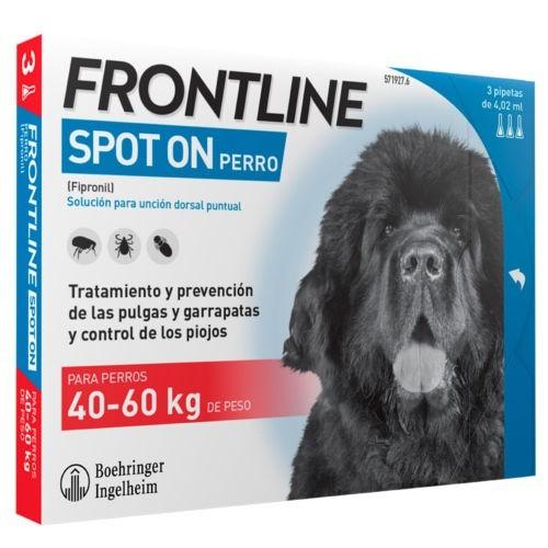 Frontline Spot On perros   40 kg protección total