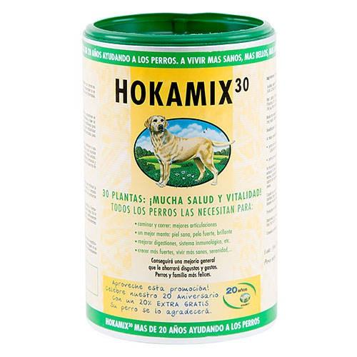 Hokamix-30 hierbas naturales para salud integral de perros