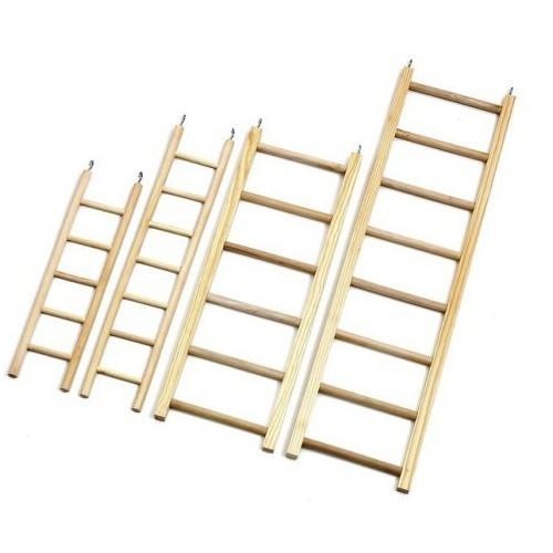 Escaleras de Madera para cotorras y loros