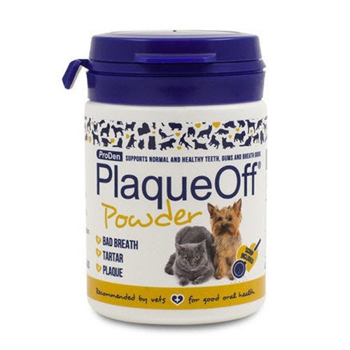 PlaqueOff Polvos antisarro para higiene bucal de las mascotas