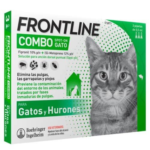 Frontline Combo Spot On Antiparasitario para Gatos