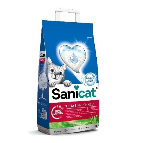 Sanicat Aloe vera 7 days arena no aglomerante perfumada para gatos
