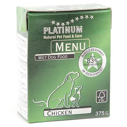 Platinum Menu Alimento húmedo natural con pollo para perros