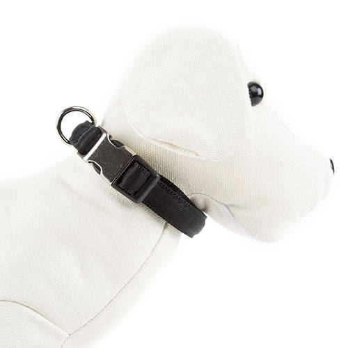 TK-Pet Collar acolchado para perros Soft Negro