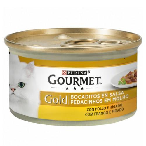 Gourmet bocaditos sabor pollo e hígado para gatos
