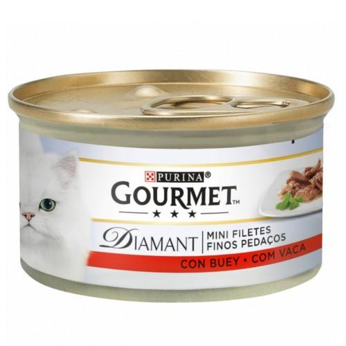 Gourmet Diamant Finas lonchas con buey para gatos