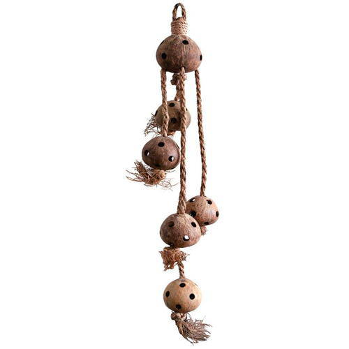 Juguete para loros Nueces de coco colgantes