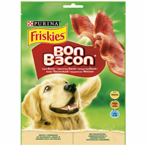 Friskies Bon Bacon Snack sabor baicon para perros