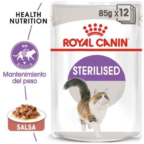Royal Canin Sterilised comida húmeda para gato adulto esterilizado en salsa