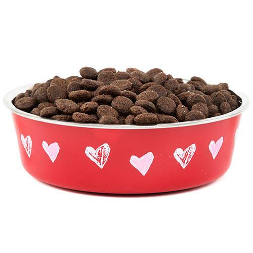 Comedero de acero inox Corazón TK-Pet