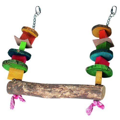 Wooden Swing with Beads for parrots