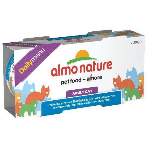 Almo Nature Daily Menu alimento húmedo natural gatos Pack 2x170