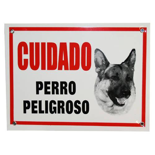 cartel cuidado perro peligroso tiendanimal