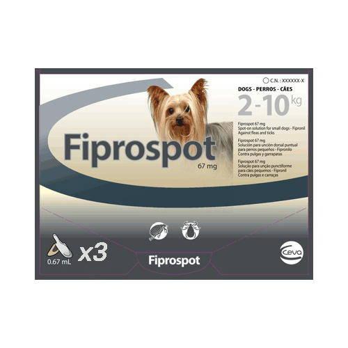 Pipeta Fiprospot antiparasitario para perros 2-10 Kg