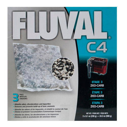 Zeo-Carb para filtro mochila Fluval C