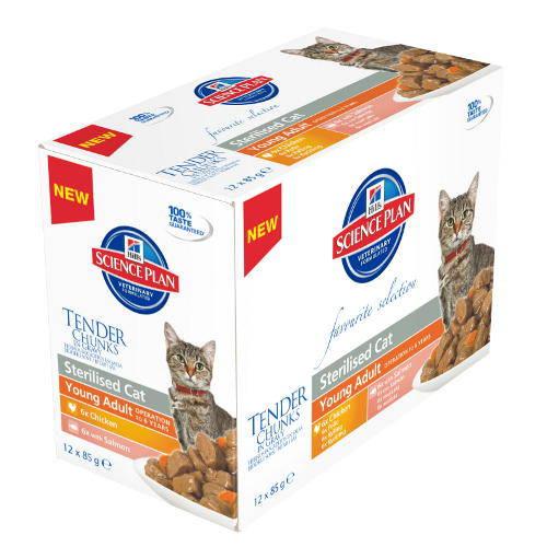 Hills Feline Multipack Bocaditos Tiernos para Gatos esterilizado