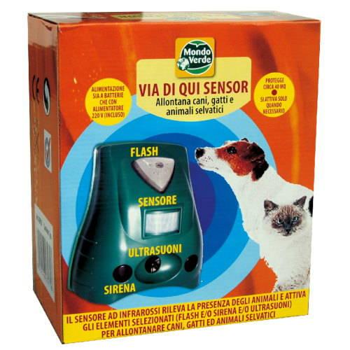 Ahuyentador electrónico con sensor de presencia