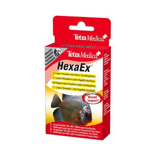 Tetra Medica HexaEx tratamiento de Hexamita y otras enfermedades