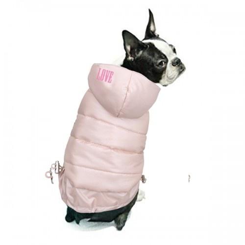 Abrigo Chic & Love para perros color Rosa