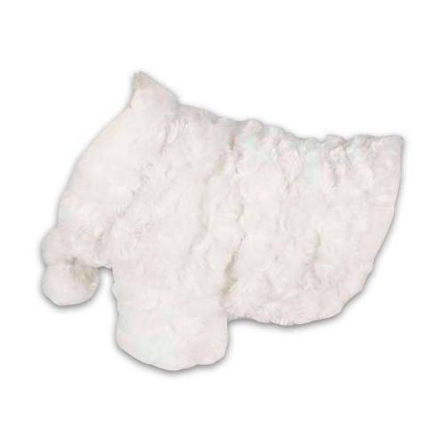 Capa Marilyn blanca con pompones para perritas