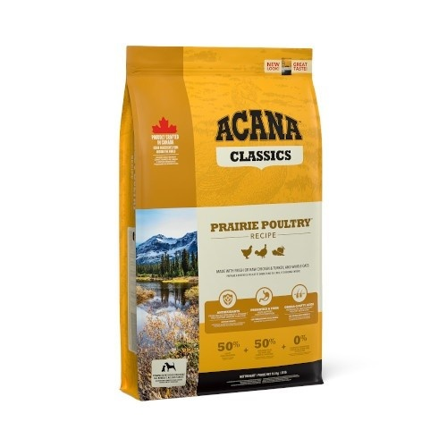 Acana Prairie Poultry dog food with chicken